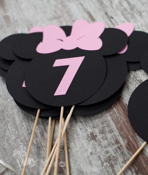 numar masa Minnie Mouse, petrecere tematica Minnie, nr masa Minnie, botez Minnie, Minnie roz
