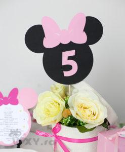 numar masa Minnie Mouse, petrecere tematica Minnie, nr masa Minnie, botez Minnie