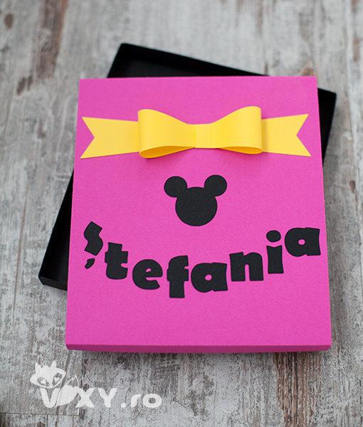 cutie cadou personalizata, cutie handmade, cutie tema Mickey, cutie Mickey Mouse