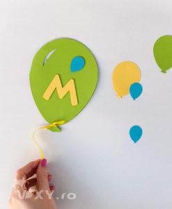 invitatie balon, invitatie botez balon, invitatie personalizata balon