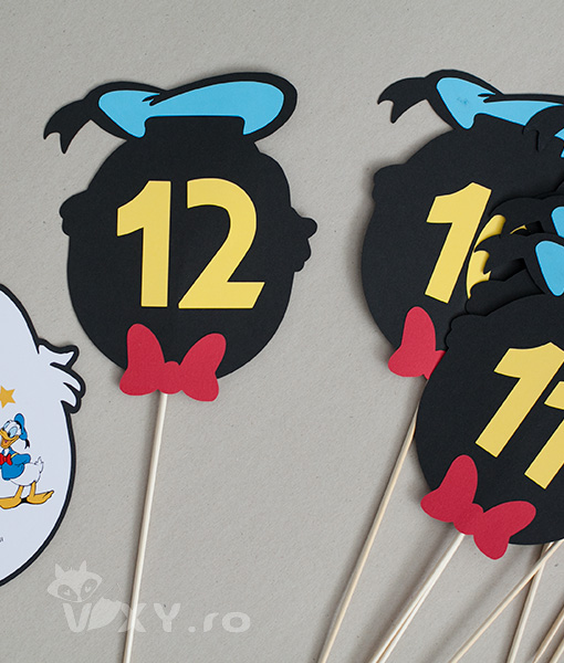 numar masa Donald Ducke, numere masa petreceri Donald, numere masa botez tematic Donald Ducke, tema Donald, produse petreceri temaice Donald