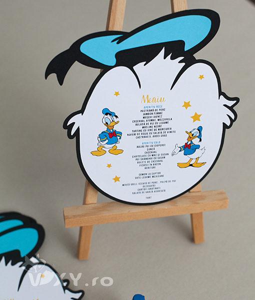 meniu Donald Duck, meniu tema petrecere Donald, meniu personalizat Donald, produse petreceri personalizate, Donald Duck