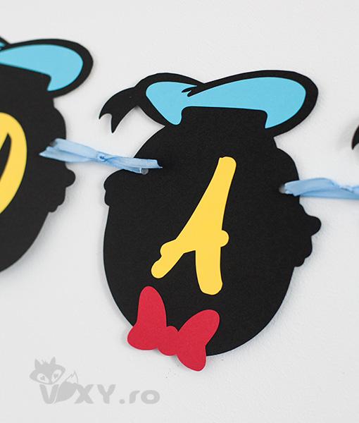 ghirlanda personalizata nume bebelus tema Donald, ghirlanda Donald Duck, ghirlanda petreceri tematice Donald, produse personalizate petreceri