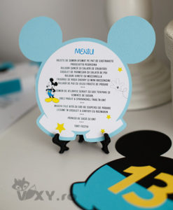 meniu Mickey Mouse, meniu botez personalizat Mickey, meniu tematic Mickey pantalonasi, meniu botez, Mickey Mouse, petreceri tematice, petrecere Mickey