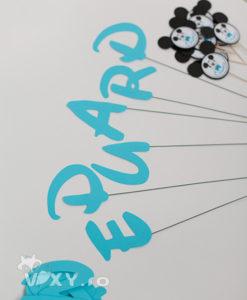 litere decupate, litere pe bete, litere nume personalizat, petreceri personalizate, vixy.ro, papetarie petrecere, papetarie personalizata, litere carton