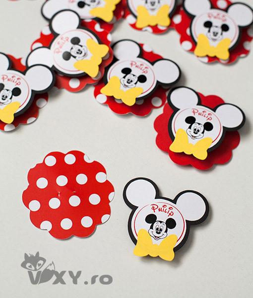 insigne personalizate copii, insigne personalizate Mickey, ecusoane Mickey Mouse, vixy.ro, insigne botez