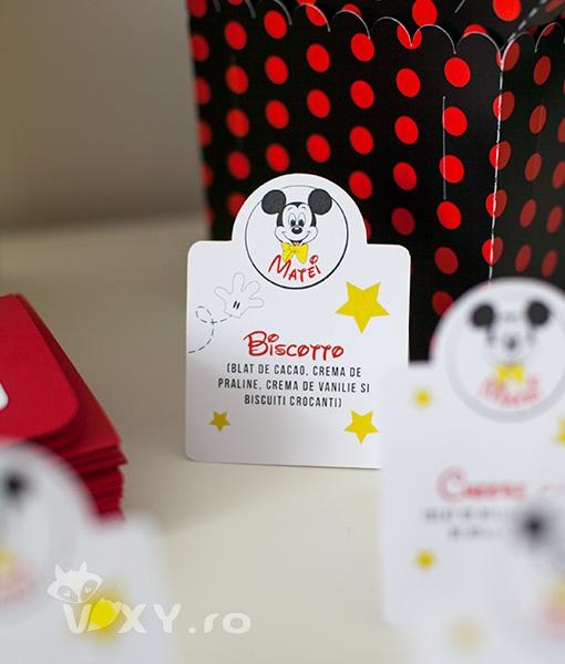 etickete prajituri tema Mickey Mouse, etickete pentru prajituri personalizate, petreceri tematice, Mickey Mouse, etichete candy bar, etichete personalizate, candy bar, vixy.ro, tema Mickey