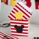 cutie popcorn Mickwy, cutie Mickey, cutie candy bar tema Mickey, Mickey Mouse, petreceri tematice, papetarie personalizata, papetarie petreceri, vixy.ro, cutii personalizate Mickey, Minnie