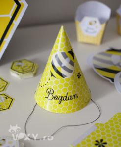 coif personalizat petreceri, coif petrecere, vixy.ro, tema botez albinute, botez albinute, petreceri deosebite, coif personalizat nume copii, coif albinuta, petreceri tematice albinute