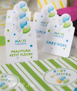 etichete prajituri tema baloane, etichete pentru prajituri personalizate, petreceri tematice, baloane, etichete candy bar, etichete personalizate, candy bar, vixy.ro, tema baloane