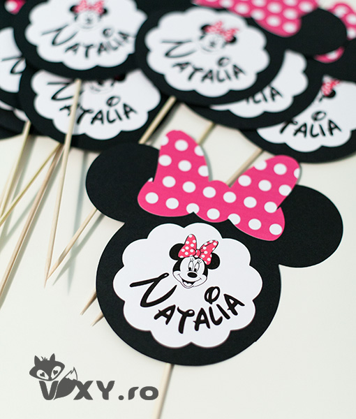 Minnie Mouse, Minnie decor botez, tema botez Minnie, vixy.ro, petrecere personalizata Minnie, Evenimente deosebite Minnie Mouse, papetarie personalizata botez Minnie, decor nume bebelus Minnie Mouse