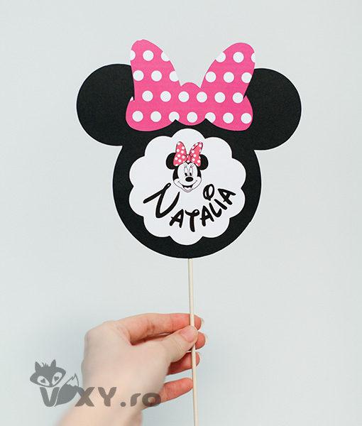 Minnie Mouse, Minnie decor botez, tema botez Minnie, vixy.ro, petrecere personalizata Minnie, Evenimente deosebite Minnie Mouse, papetarie personalizata botez Minnie, decor nume bebelus Minnie Mouse
