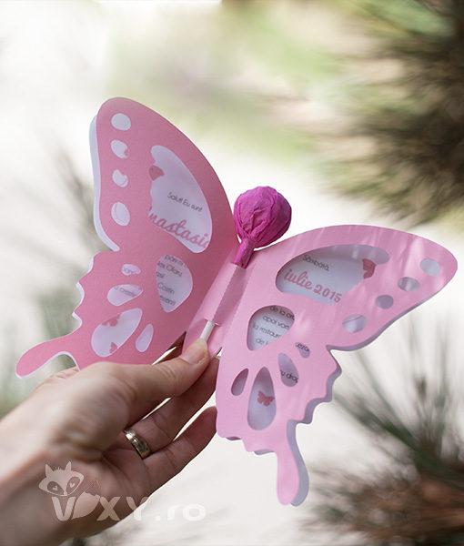 invitatie fluture, tema fluturi, fluturi