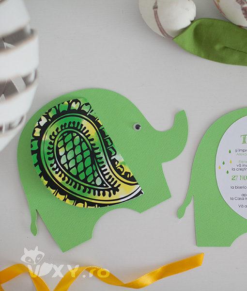 invitatie elefantel, invitatie botez, invitatie personalizata, vixy.ro, petrecere tematica, botez tematic elefantel, invitatie inedita,invitatii copii