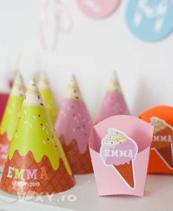 tema inghetate, cutiuta biscuiti, cutiuta personaliyata, cutiuta colorata inghetata, petrecere copii